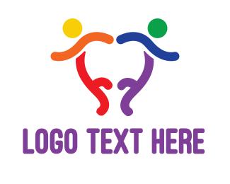 Pride - Colorful Dancers logo design