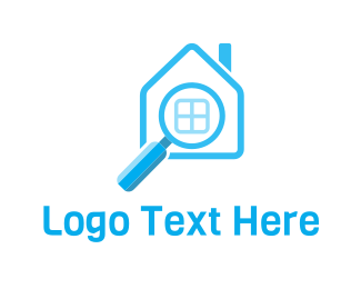 Magnifying Glass - Property Search logo design