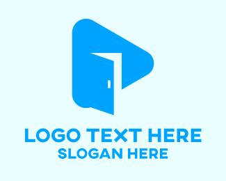 Open - Blue Door Vlog logo design