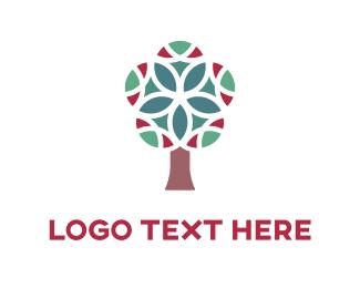 Kaleidoscope - Kaleidoscope Tree logo design