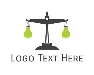 Justice - Justice Lamp logo design