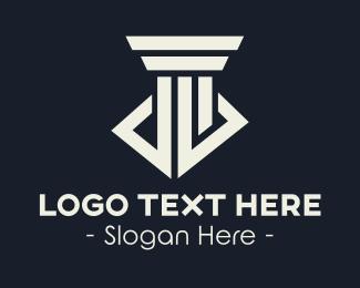 Law Office - Grey Greek Pillar logo design