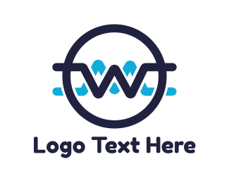 Seal - Blue Zigzag W logo design