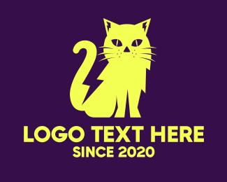 Flash - Yellow Cat logo design