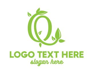 Vine - Leafy Vine O logo design