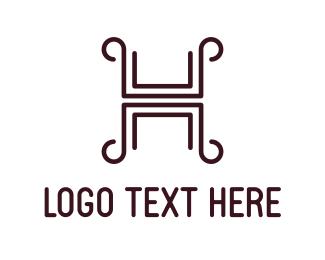 Letter H - Greek Letter H logo design