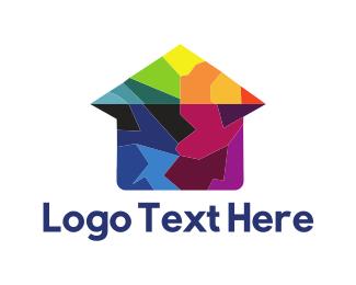 House Painter - House Puzzle logo design