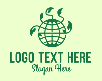 Growth - Earth Globe Eco Nature logo design