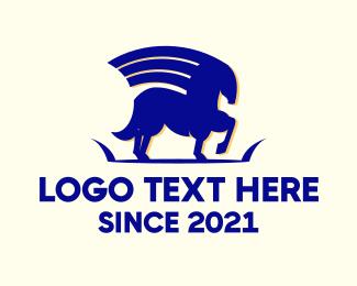 Mythology - Blue Pegasus logo design