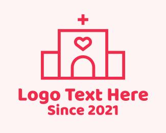 Cardiology - Red Heart Hospital logo design