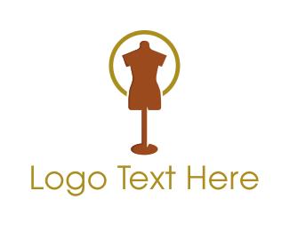 Showroom - Brown Mannequin logo design