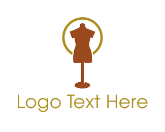 Boutique - Brown Mannequin logo design