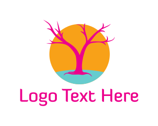 Music Festival - Pink Tree logo design