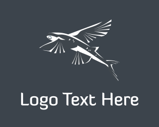 Fly - Flying Fish logo design