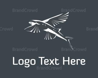 Jump - Flying Fish logo design