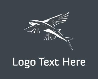 Swim - Flying Fish logo design