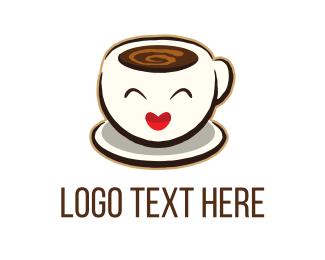 Hot Chocolate - Happy Espresso logo design