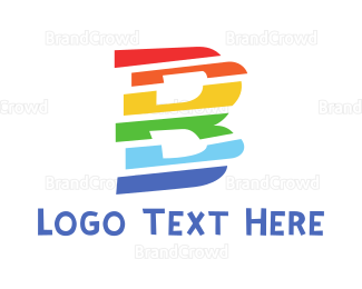 """""""Colorful Letter B"""" by town"""