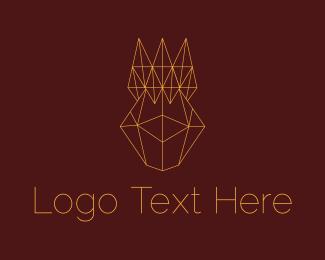 Coronation - Abstract Geometric Crown logo design