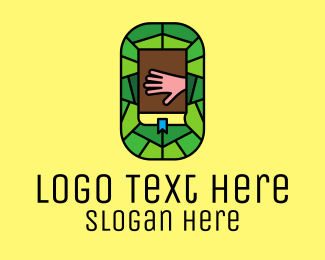 Pastor - Stained Glass Bible Church logo design