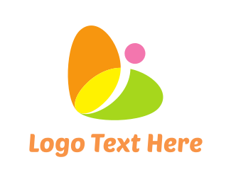 Vibrant - Colorful Butterfly logo design