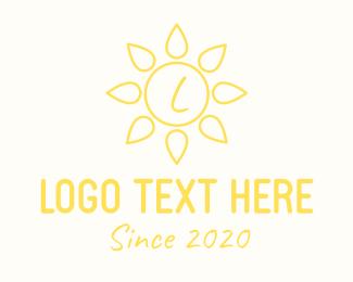 Ray - Yellow Sun Flower Lettermark logo design