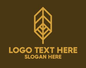 Tree - Geometric Autumn Leaf logo design