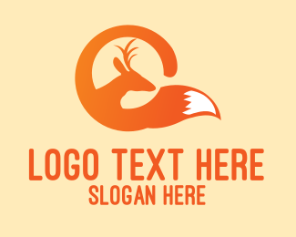 Animal - Deer Fox Animal logo design