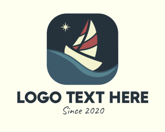 Midnight - Boat Sailing App logo design