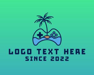 Online Gaming - Paradise Island Gaming  logo design