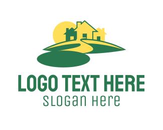 Town - Neighborhood & Sunset logo design