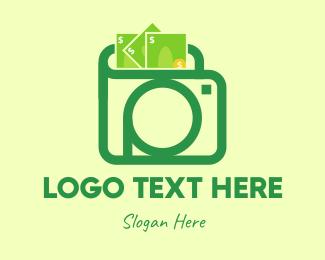 Income - Green Photo Wallet logo design