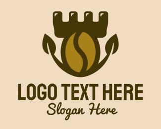 Fortress - Coffee Bean Fortress logo design