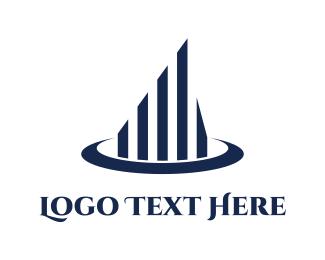Growth - Blue Building logo design