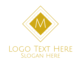 Luxurious Classical Square Lettermark Logo