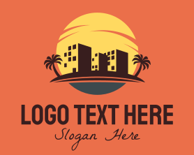Buildings - Sunset Buildings logo design