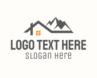 Lodging - Mountain Vacation House logo design