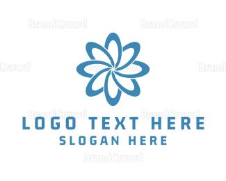 Eco Energy - Blue Flower logo design