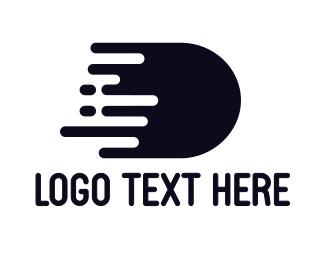Express - Black D Splatter logo design