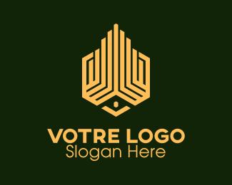 Construction Yellow Building Construction logo design