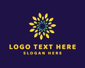 Aromatherapy - Yellow Flower logo design