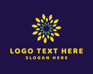 Aromatherapy - Yellow Flower logo design