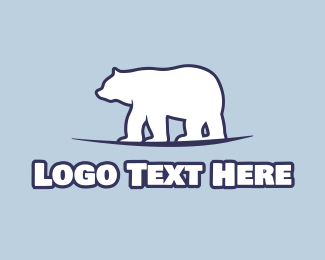 Cold - Antarctica Polar Bear logo design