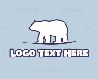 Alaska - Antarctica Polar Bear logo design