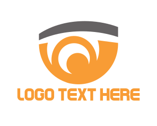 Optics - Orange Eye logo design
