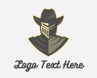 Sticker - Cowboy Knight logo design