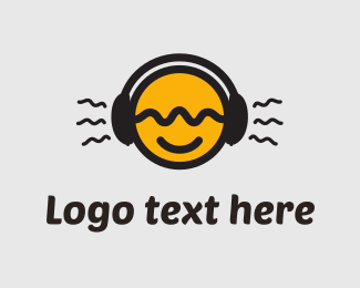Stereo - Tune In Yellow Circle logo design