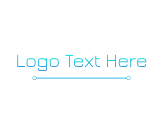 """Blue Gradient Tech Wordmark"" by BrandCrowd"