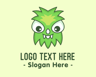 Worm - Cute Green Monster logo design