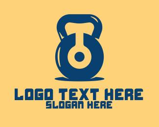Physical Trainer - Digital Kettlebell logo design